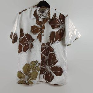 O'Neill Shirt Boys XL Button Down White Brown Tan